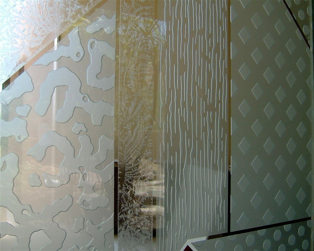 Sandblasted glass patterns images for Frosted glass designs