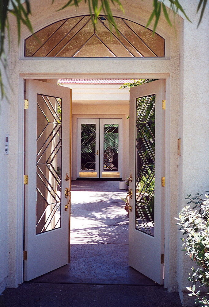 beveled glass entry gate and door sans soucie