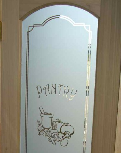 Pantry Door Glass Etched Amp Carved By Sans Soucie Sans