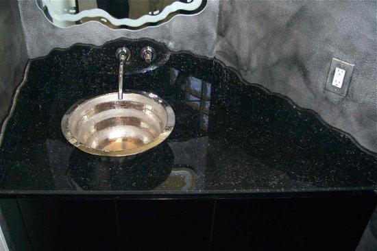 Black Vanity Cabinet Vessel Sink: Bathroom Vanity Glass, Vessel Sink Vanities