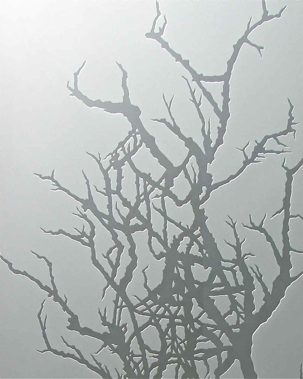Frosted glass tree sans soucie art glass for Frosted glass designs