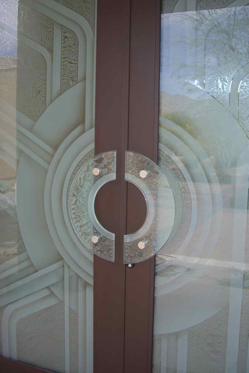 Etched Glass Doors With GLASS DOOR PULLS By Sans Soucie