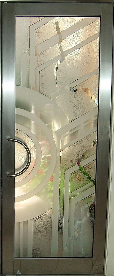 Sandblasted Glass Door Sans Soucie Art Glass