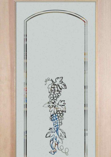 Etched Glass Pantry Doors With Grape Amp Grapevine Designs Sans Soucie Art Glass