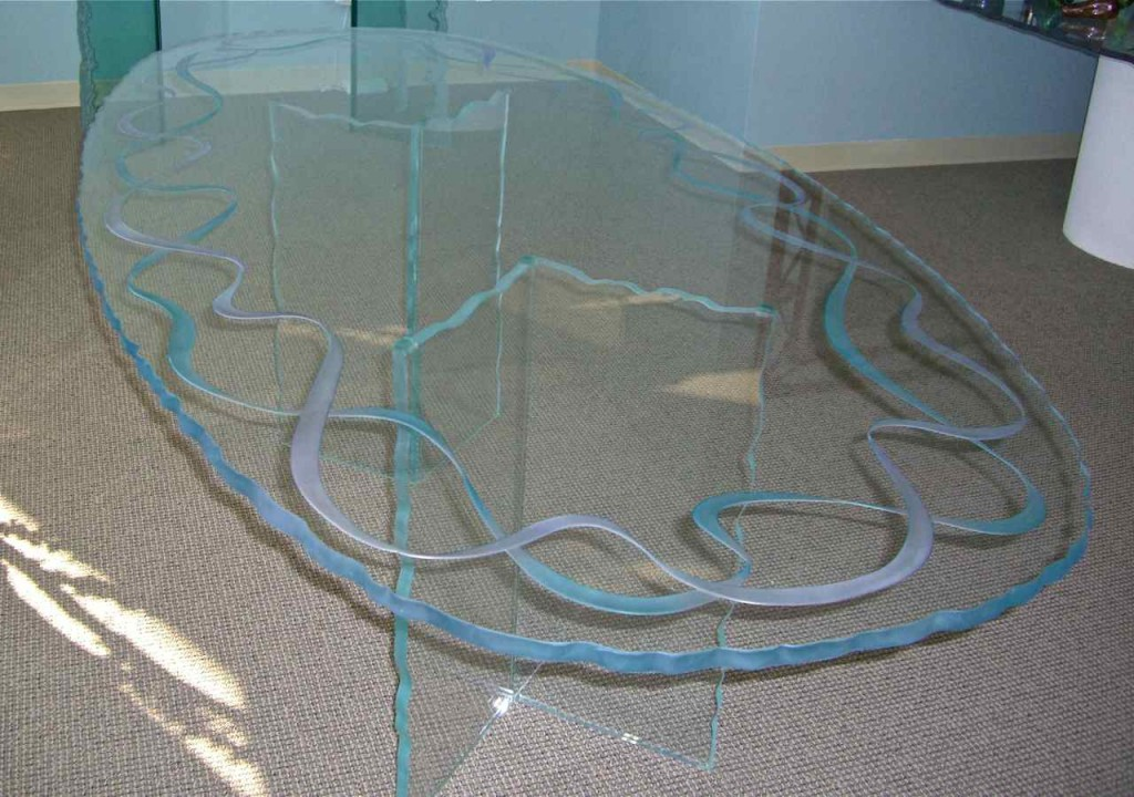 Table Top Glass Etchin Glass Dining Table Top by