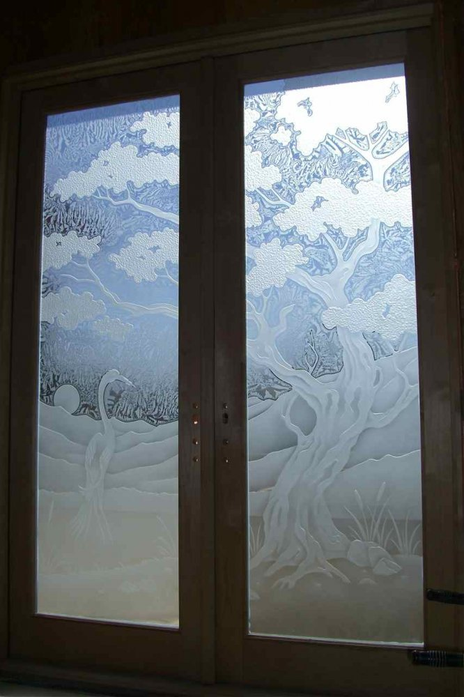 Carved Glass Doors Sans Soucie Art Glass