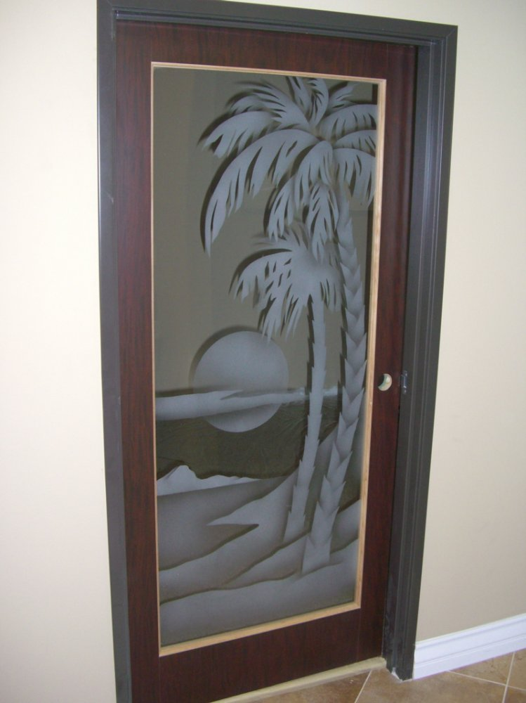 Pin etched glass effect cut vinyl for self application to for Decorative entrance doors