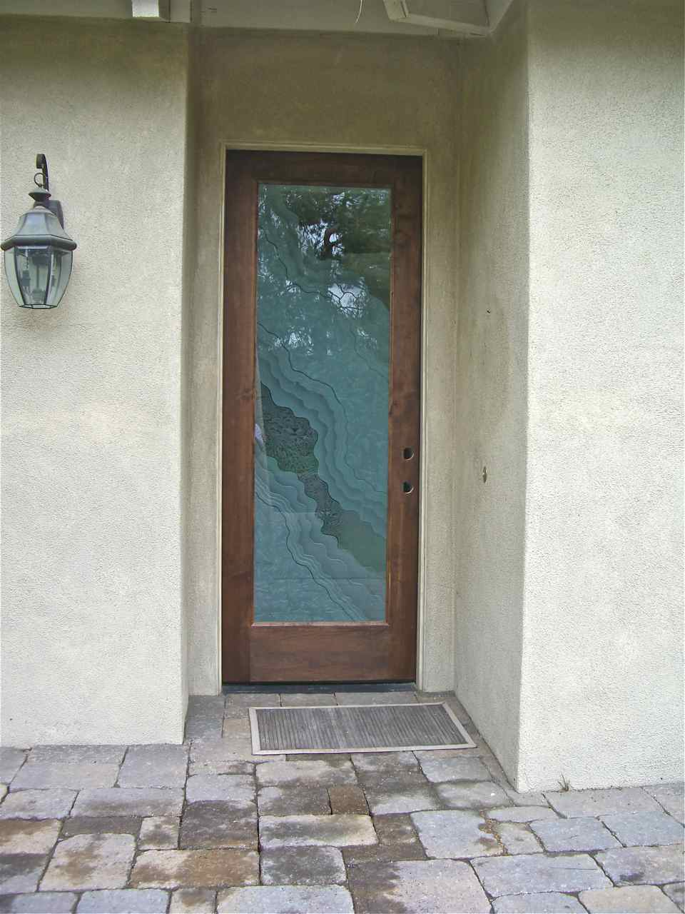 Frosted glass front door the image kid for Exterior doors with glass