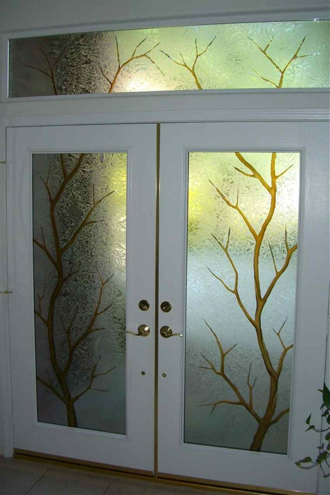 Front door glass sans soucie art glass for Front door glass design