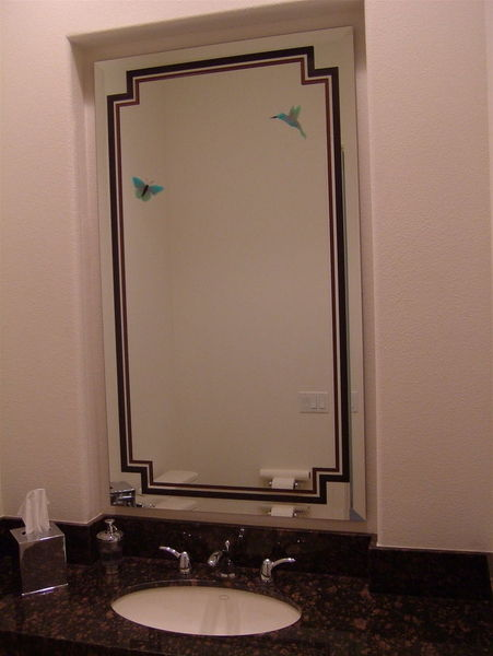 Custom etched and carved bathroom mirrors sans soucie for Custom mirror glass