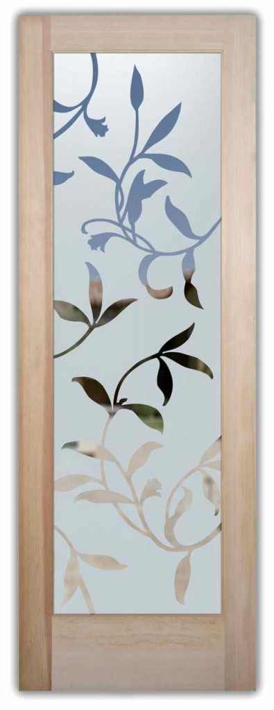 Foliage designs sans soucie art glass for Frosted glass designs