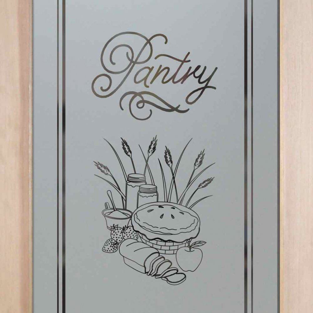 Glass Designs For Kitchen Doors: Frosted Glass Pantry Door