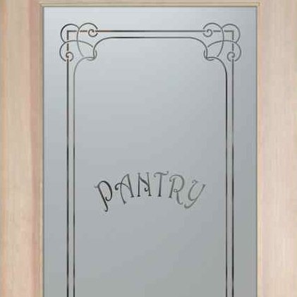 Frosted glass pantry door