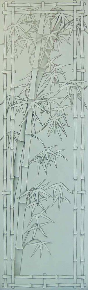 Bamboo Shoots 3D Pinstripe Glass