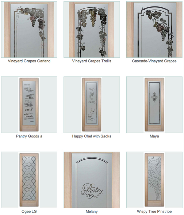 Etched Glass Pantry Doors Sans Soucie Art Glass