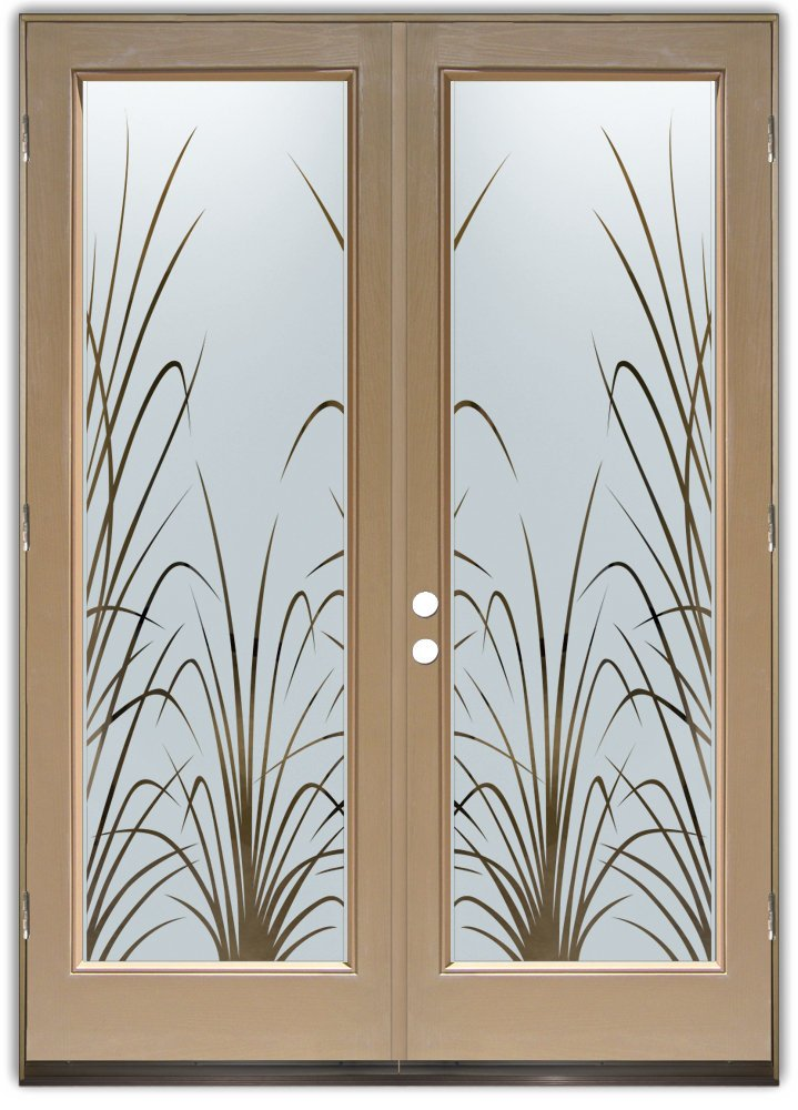 Double entry doors with frosted glass designs sans for Door window patterns
