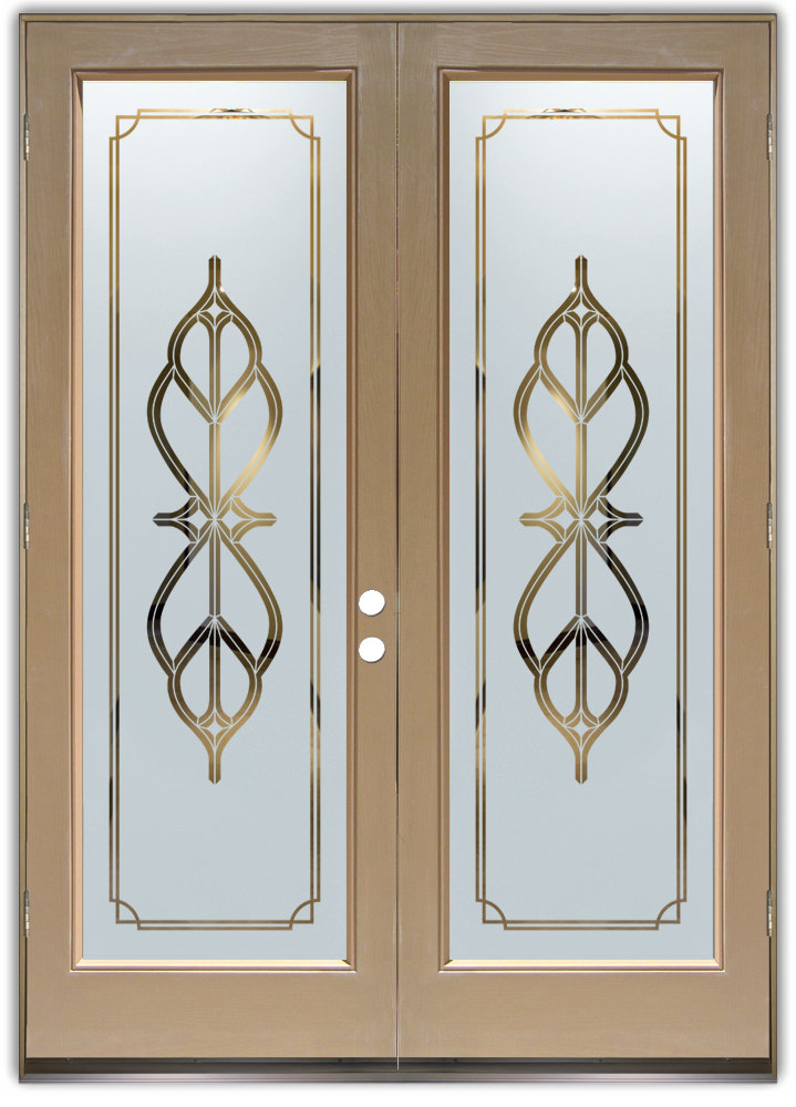Double Entry Doors With Glass Sans Soucie Art Glass