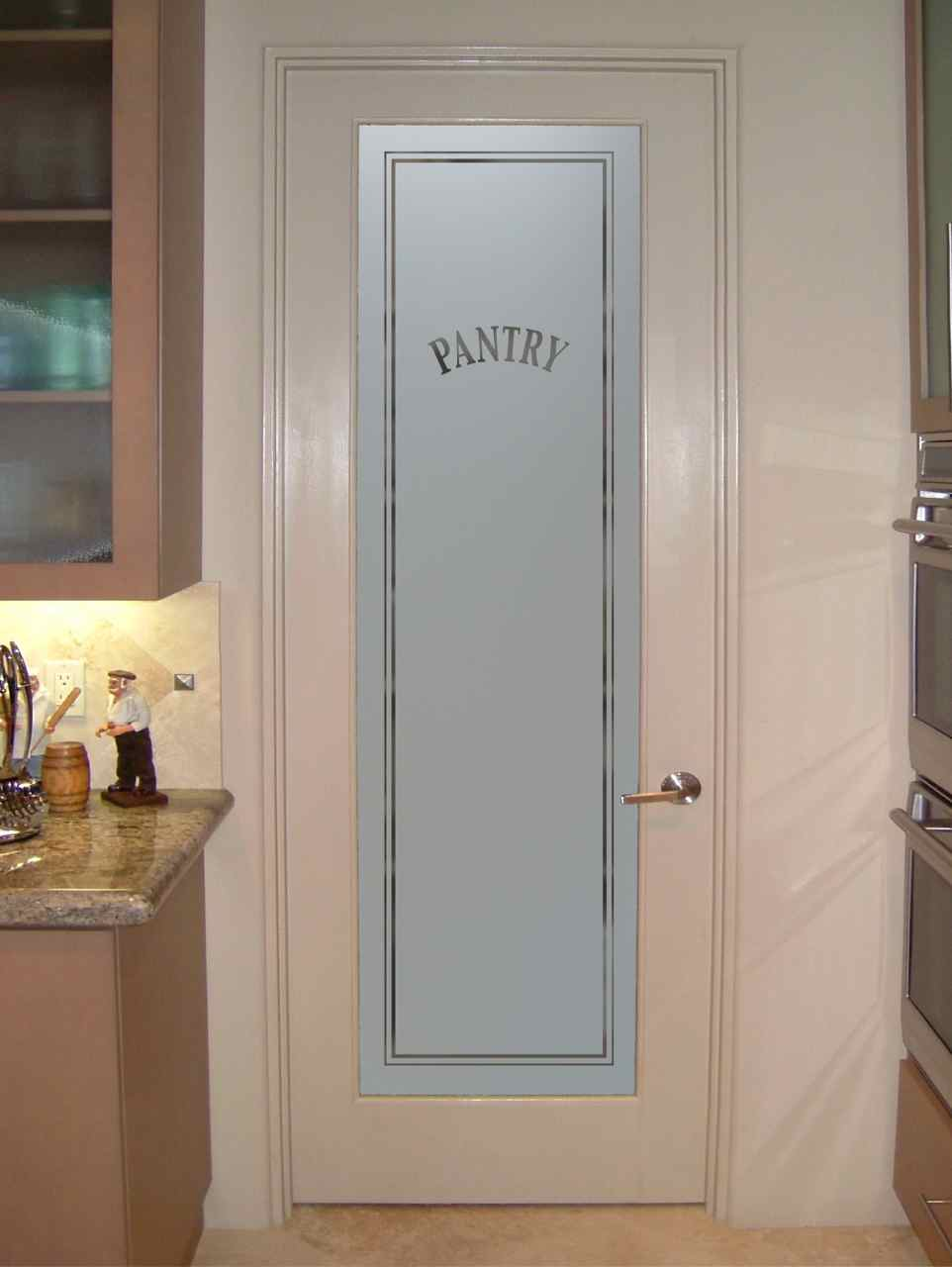 Frosted glass pantry door sans soucie art glass - Kitchen door ...