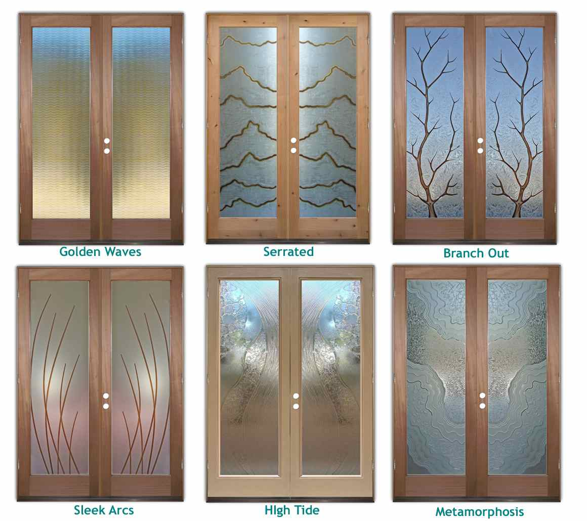 Custom glass entry sans soucie art glass for Front door glass panels