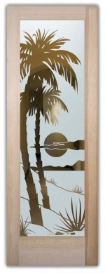 interior glass door frosted palms