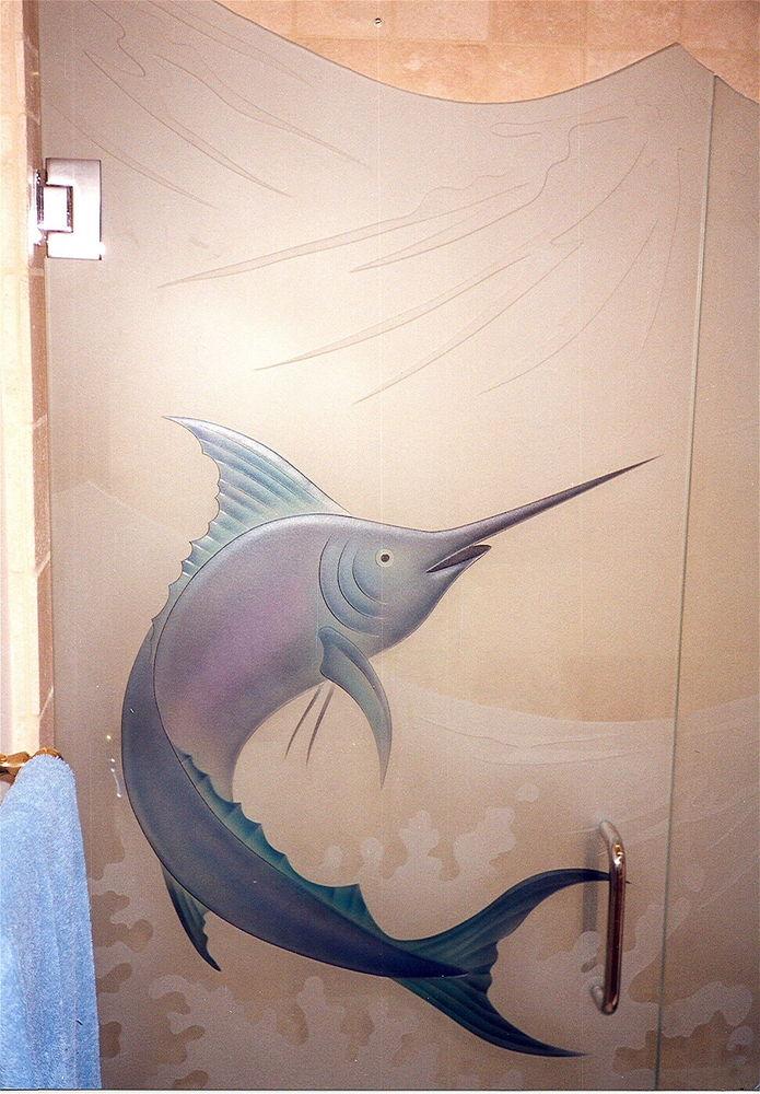 Etched Glass Showers Sans Soucie Art Glass