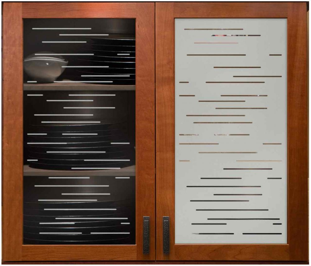 Etched glass designs for kitchen cabinets images for Kitchen cabinet lines