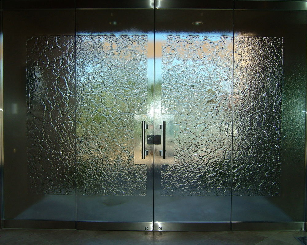 Patterns textures sans soucie art glass for Frameless glass doors