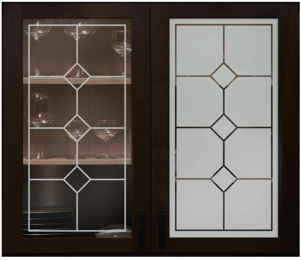 Cabinet glass sans soucie art glass Kitchen profile glass design