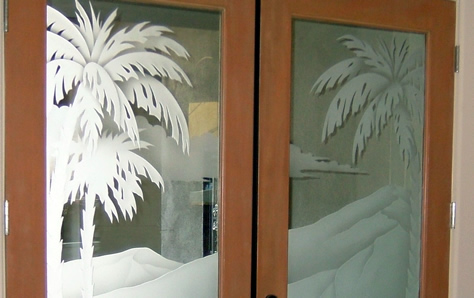 Etched Glass Doors Frosted Glass Decorative Custom Glass