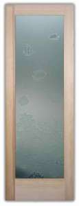 Aquarium 3D Private Etched Glass Doors Beach Decor