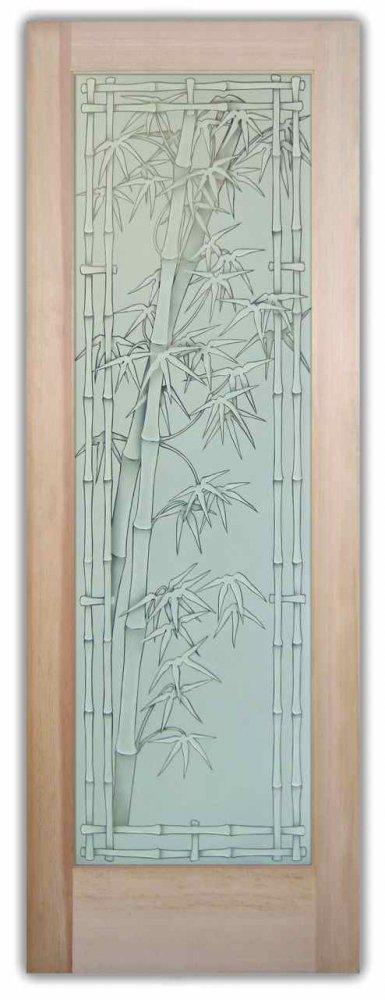 Bamboo-Shoots-3D-Pinstripe-Glass-Doors-by-Sans-Soucie Bamboo Doors Interior