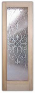 Corazones 3D Etched Glass Doors Tuscan Decor