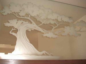 Bonsai Tree Frosted Custom Mirrors