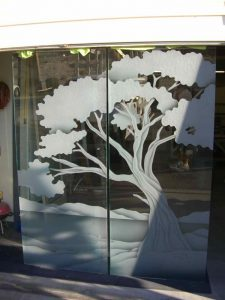 Cypress Tree Frameless Glass Doors