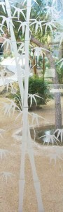 Bamboo Shoots 3D Clear Door Glass Inserts