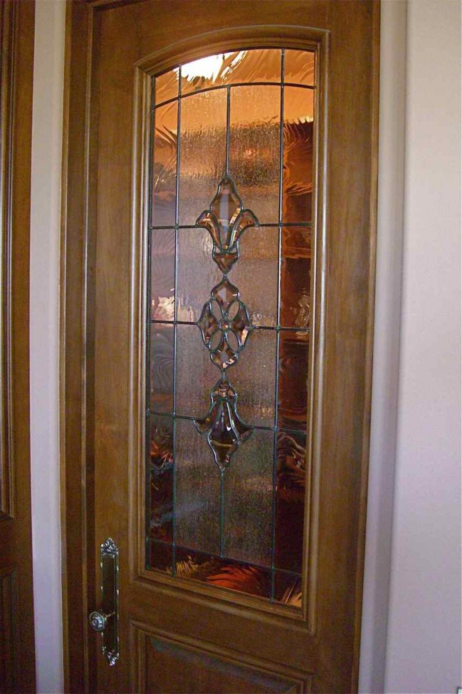 Bevel cluster pantry door glass inserts sans soucie for Beveled glass doors