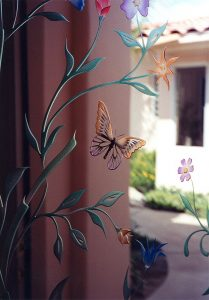 Springtime Flutter Door Glass Inserts