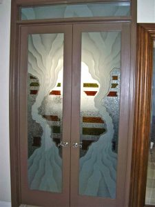 Triptic Double Entry Door Glass Inserts