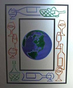 Wines of the World Door Glass Inserts