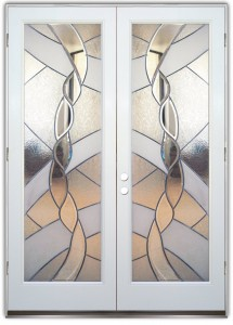 Dreamscape Stained Glass Doors