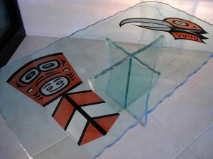 Native Symbols Glass Coffee Tables