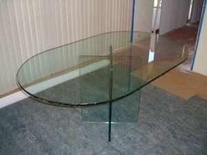 Chipped Edge Glass Dining Tables