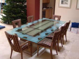 Geometric Isomer l Glass Dining Tables