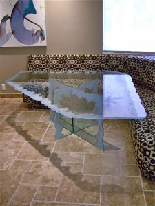 Moonscape Edge Glass Dining Tables