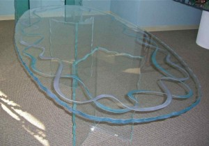 Ribbons Glass Dining Tables