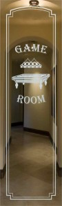 Billiards Room Glass Door Inserts