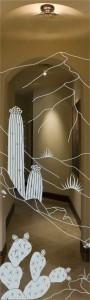 Desert Cactus Glass Door Inserts