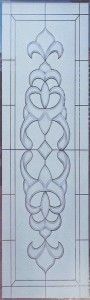 Faux Bevels 2D Glass Door Inserts