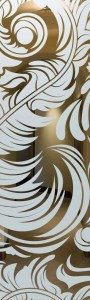 Feathers Glass Door Inserts
