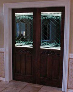 Filigree Lattice Glass Door Inserts